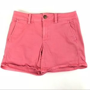 AEO American Eagle Womens Shorts Size 4 Midi Pink